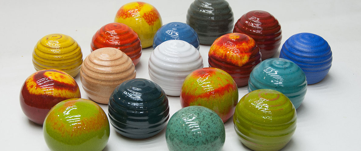 Enamels (colors) - Michael Laventzakis' Handmade Ceramics in Chania