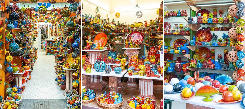 Michael Laventzakis' ceramic shops in Chania